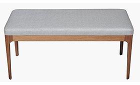 Banco pie de cama nogal y tapizado Matal