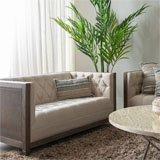 Sofá dos plazas beige-natural