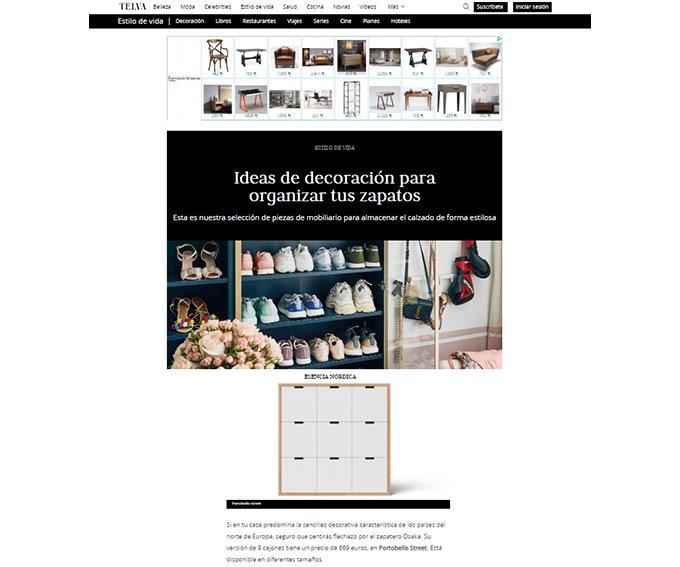 Ideas de decoración para organizar tus zapatos