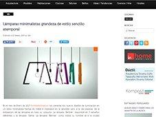 Lámparas minimalistas grandeza de estilo sencillo con Portobello
