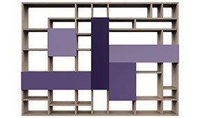 Librería separador de ambiente ultra violet Allegro