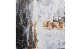 Cuadro Abstracto Nuri marron