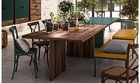 Mesa de comedor industrial Loft Fusion