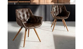 Sillón moderno tapizado y nogal Riardo