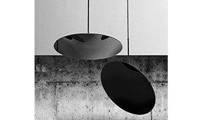 Lámpara de techo negra Hanging Hoop