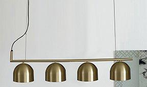 Lámpara de techo oro satinado Camila