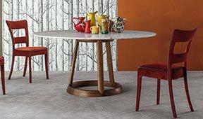 Mesa de comedor redonda calacatta Greeny Bonaldo