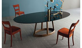 Mesa de comedor ovalada marquina Greeny Bonaldo
