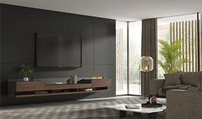 Mueble de tv Florencia con chimenea eléctrica by Bodonni
