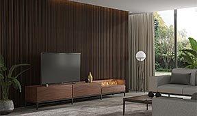 Mueble de tv  Etna con chimenea eléctrica by Castelo