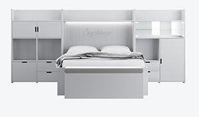 Dormitorio infantil Cayetana con cama nido y 2 cajones