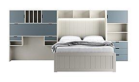 Dormitorio juvenil Fran con cama de 4 cajones