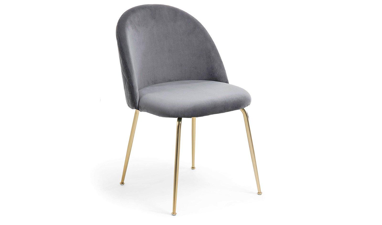 set 2 sillas negra moderna gris Teremys