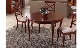 Mesa de comedor extensible clásica Carve