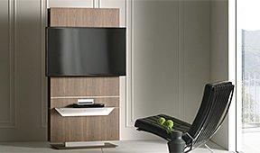 Mueble de tv giratorio con estantería Lounge by Pacini e Cappellini