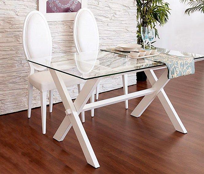Mesa plegable lacado blanco roto