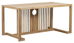 Mesa de escritorio olmo reciclado Payata1056