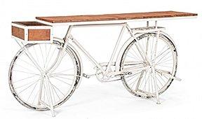 Consola bicicleta blanca