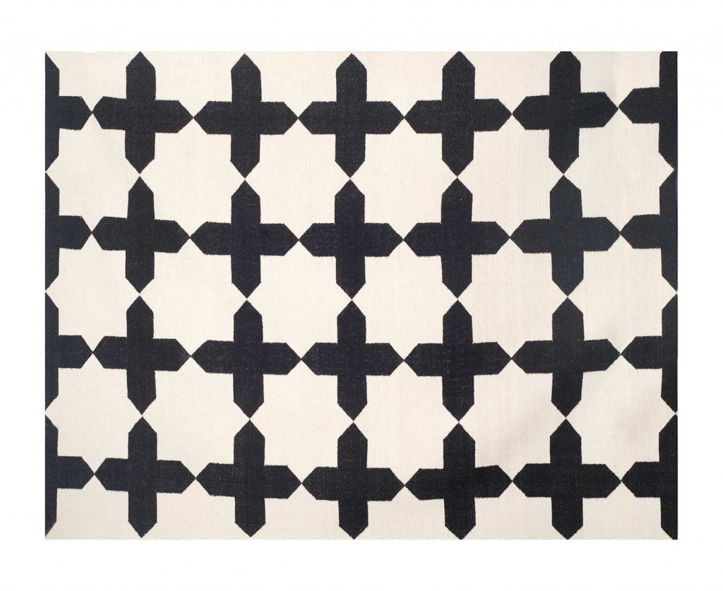 Alfombra Al-Andalus blanco y negro