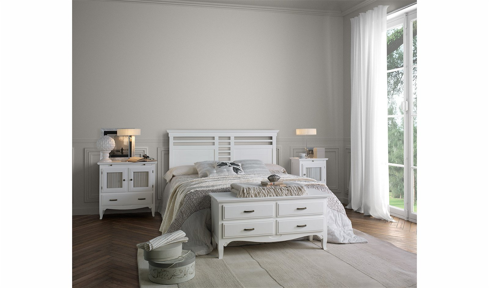 Dormitorio colonial tosca Fontana
