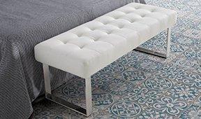 Banqueta pie de cama moderna Baton