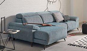 Sofá tapizado con chaise longue relax Noopi
