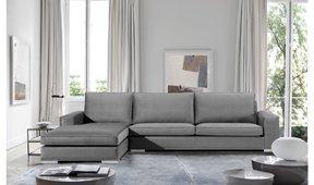 Sofá con chaise longue moderno Donatello