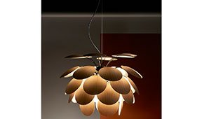 Lámpara de techo roble americano Discocó Marset