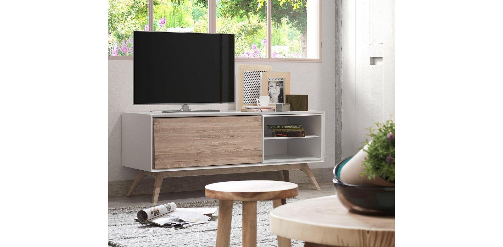 Mueble de Tv 1 puerta nordico Quatre 2