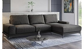 Sofá con chaise longue moderno Ricardo