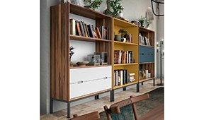 Librería 2 cajones industrial Loft