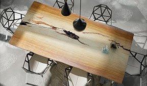 Mesa de comedor madera maciza tali Covasna