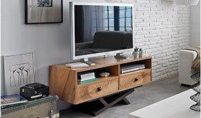 Mueble tv 2 cajones vintage Natura