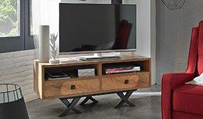 Mueble tv 2 cajones vintage Natura III