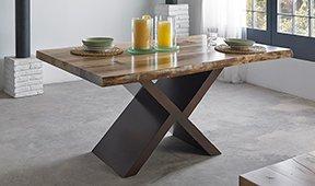 Mesa de comedor tronco nogal