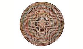 Alfombra Sahten yute natural multicolor