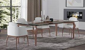 Mesa de comedor cristal moderna Stiletto
