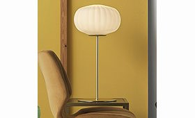 Lámpara de sobremesa alta Hup dorada mate