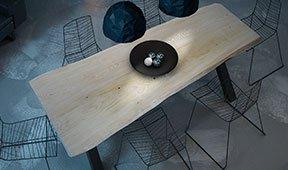 Mesa de comedor madera maciza abeto Mures