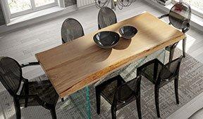 Mesa de comedor madera maciza roble Hargita