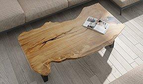 Mesa de centro madera maciza olivo Valcea