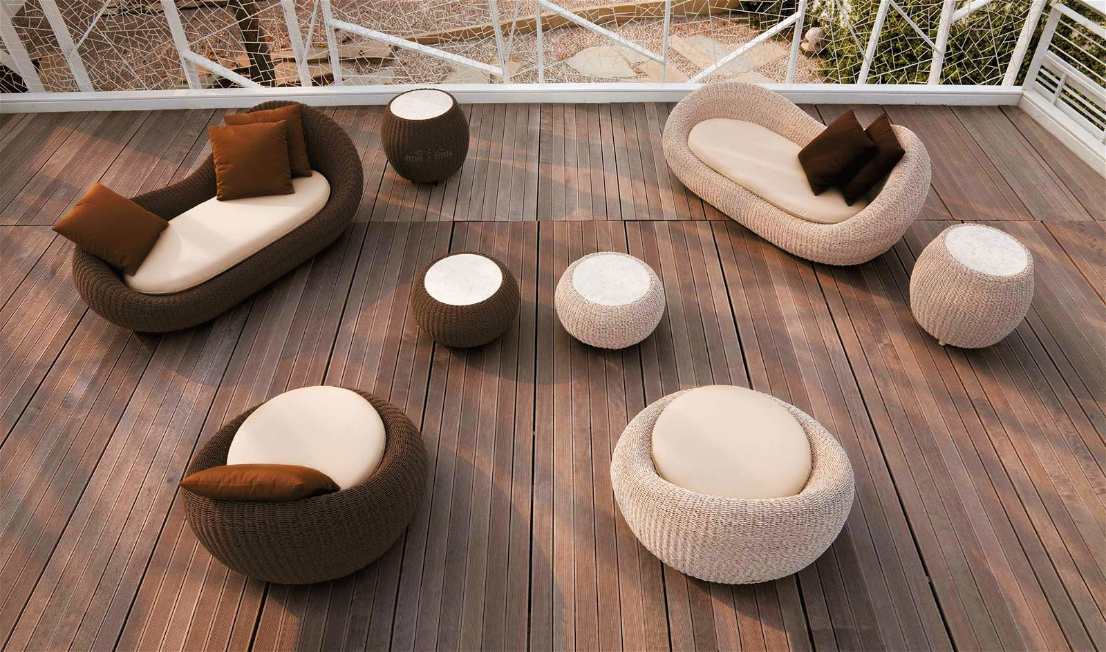 Mesa de rincón de jardín Wiga