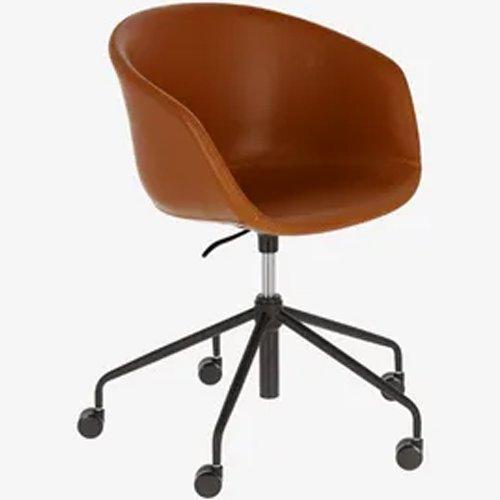 Silla escritorio Yvette piel poliuretano marrón