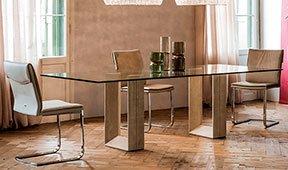 Mesa de comedor cristal Diapason Cattelan