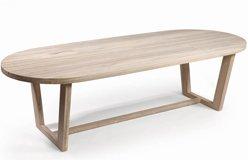 Mesa exterior oval madera teca