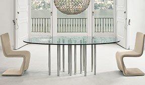 Mesa de comedor ovalada Mille Bonaldo
