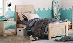 Cabecero y cama vintage Corden
