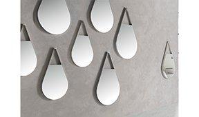 Espejo moderno acero Gota H20