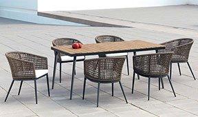 Mesa de comedor de jardín Maro