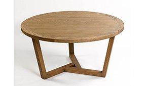Mesa de comedor redonda moderna roble Elma